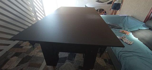 Mesa Charme de Bilhar Cor Preta Tecido Preto e Borda Amarela Mod. CSYF3789