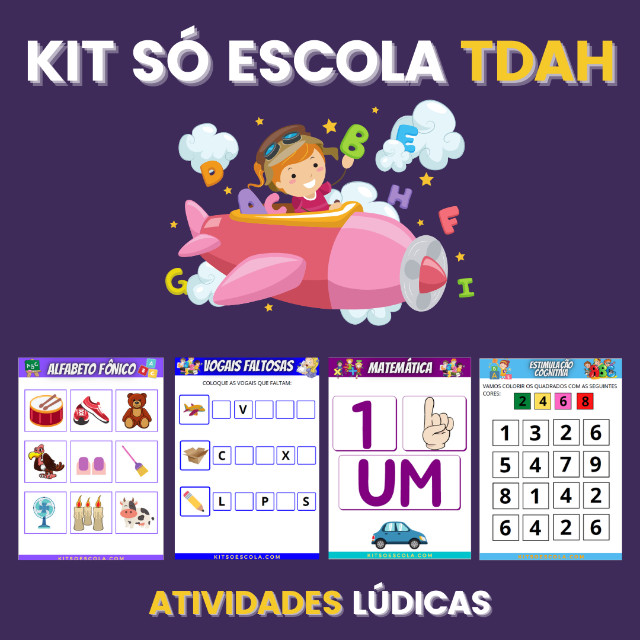 .:: Kit de Atividades ::. Kit T D A H - Foto 4