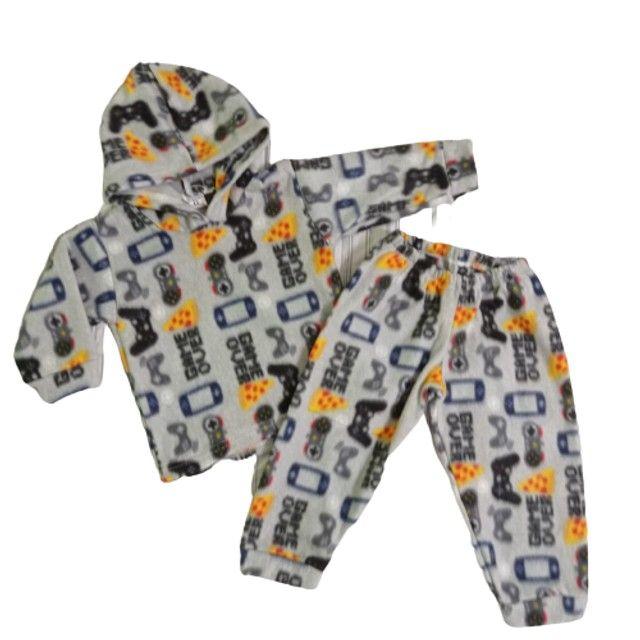 Conjuntos de calça comprida +Blusa de manga comprida e capuz/ Bebê