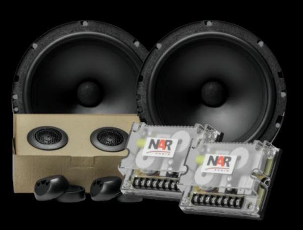 Alto falante Kit 2 vias NAR 650-CS-2 (6 POLS. / 110W RMS) Alta Qualidade Sonora
