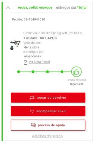 Baixou Drone visuo semi novo  xs812 - R$ 810,00 - Foto 5