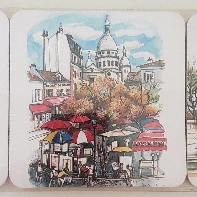 Porta Copos Cortiça com 6un Importado Paris França - Foto 6