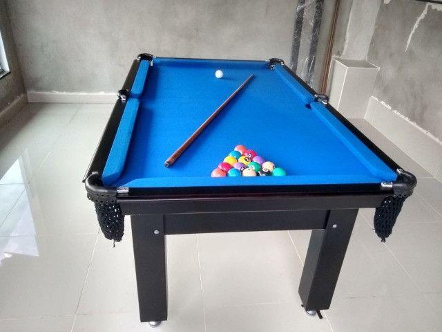 Mesa Tentação Frete Grátis Cor Preto Tecido Azul Mod. RASE0176