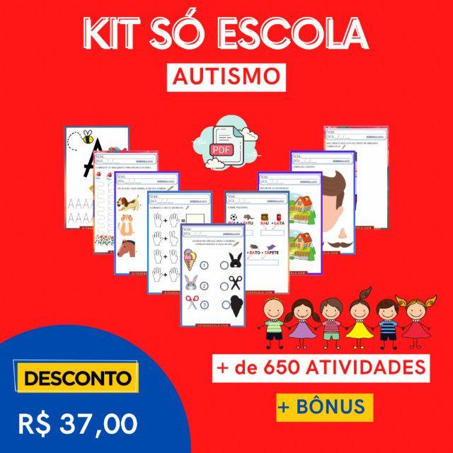 """.:: Kit de Atividades Alfabetização Infantil """"Autismo"""" :: - Foto 5"""