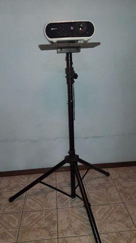 Tripé pedestal/suporte para Projetor e Caixa de som - Foto 3