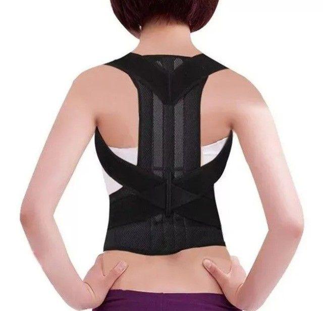 Colete Postural Correção coluna ombros Masculino Feminino hastes flexíveis - Foto 4