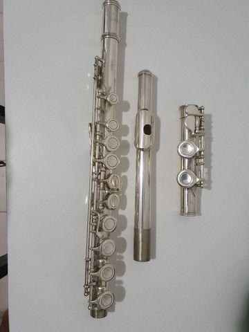 Flauta Eagle prateada