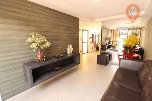 Apartamento com 2 dormitórios à venda, 65 m² por R$ 350.000 - Jatiúca - Maceió/AL - Foto 6