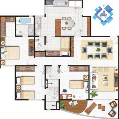 Apartamento de 122m² no porcelanato com móveis projetados. - Foto 9