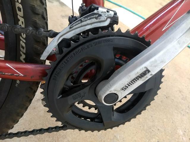Vendo bicicleta Caloi MTB aro 26 (faço troca por bicicletas MTB) - Foto 5
