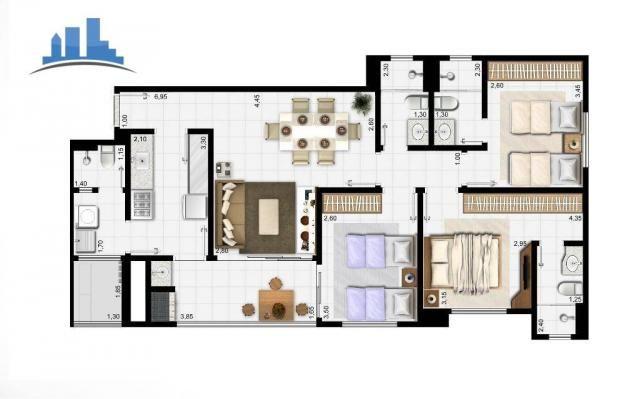 Apto Grand Arena 3 dormitórios 2 vagas, Único, Cuiabá - Foto 2