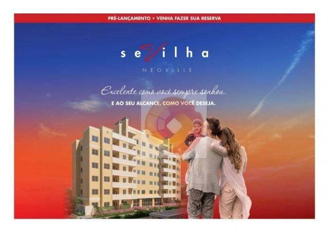 Apartamento com 2 dormitórios à venda, 51 m² por R$ 240.000,00 - Neoville - Curitiba/PR - Foto 2