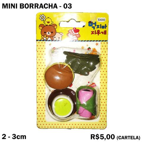 Mini Borracha Frutas e Verduras - Cartela 03
