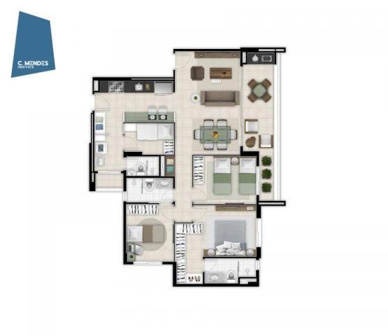 Marzzano, 2 ou 3 suítes, 2 vagas, 88, 100 e 117 m²  à venda, a partir de R$ 535.000 - Duna - Foto 12