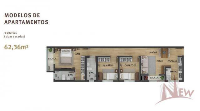 Apartamento 03 quartos sendo 01 suíte no Três Marias, São José dos Pinhais - Foto 4