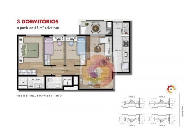 Apartamento com 2 dormitórios à venda, 51 m² por R$ 240.000,00 - Neoville - Curitiba/PR - Foto 11
