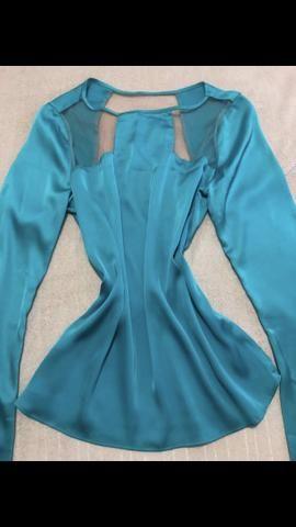 564d0e2c4d Blusa de seda com detalhes em tule- Morena Rosa - Roupas e calçados ...