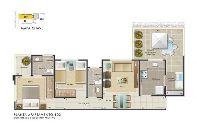 Apartamento com 3 dormitórios à venda, 112 m² por R$ 350.000 - Manacás - Belo Horizonte/MG - Foto 4