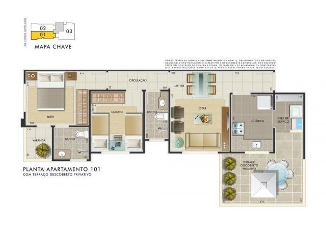 Apartamento com 3 dormitórios à venda, 112 m² por R$ 350.000 - Manacás - Belo Horizonte/MG - Foto 3