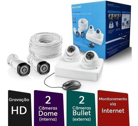 Kit de Segurança HVR Open HD 4 canais + 4 câmeras - Foto 2