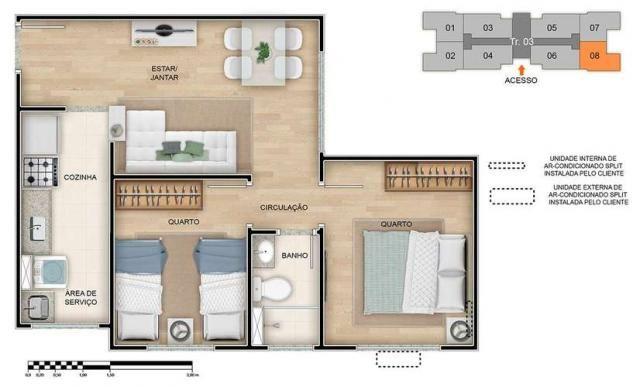Spazio Montecarlo - Apartamento de 2 quartos na Região do Jardim América, Maringá - PR - I - Foto 19