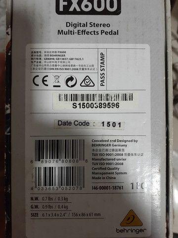 Pedal Multi efeitos Digital FX 600