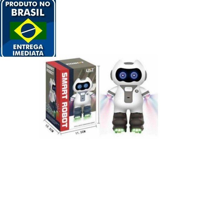 Smart Robot Robô Inteligente Musical Brinquedo Criança Luzes - Foto 2