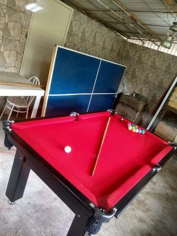Mesa Tentação Pgto na Entrega Cor Preto Tecido Vermelho Mod. TKFI7209 - Foto 3