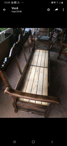 Sofá colonial madeira maciça