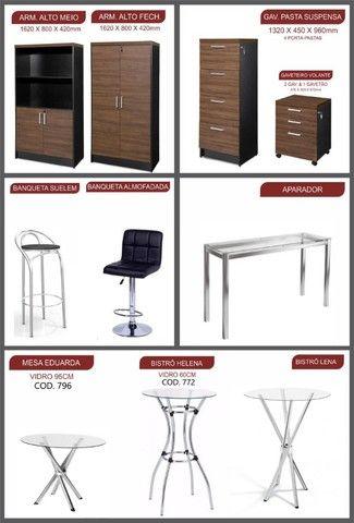mesas, armários  de escritório madeira melhor preço de Goiânia  - Foto 2