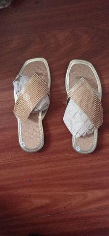 Sandália de Tira Dourada NovaTamanho Unico 37