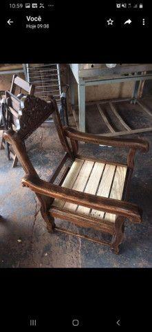 Sofá colonial madeira maciça  - Foto 2