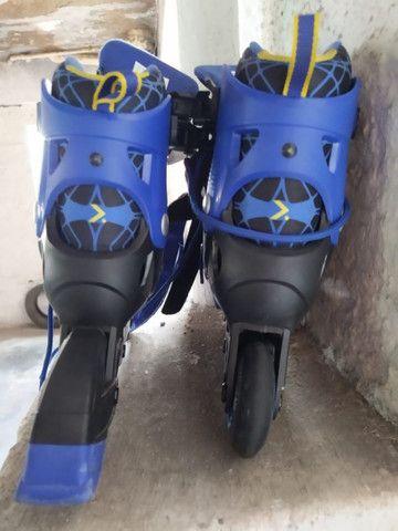 Vendo patins infantil tam 33-35 - Foto 3
