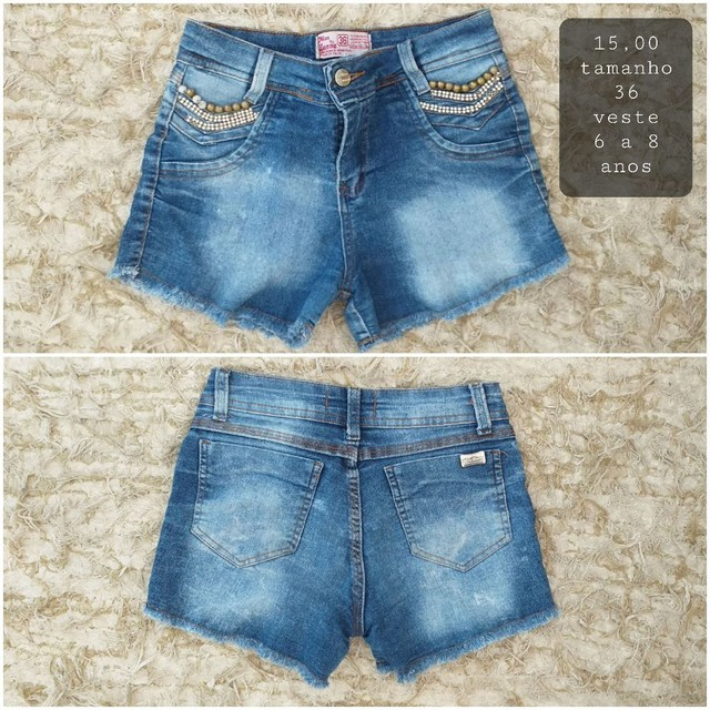 Jeans menina veste 6 a 8 anos - Foto 3