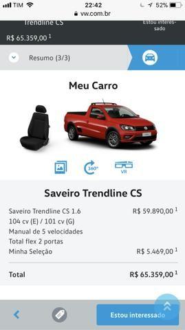 Vw Saveiro Trendline CS 18/18 completíssima