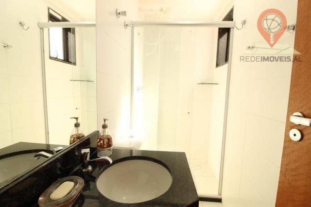Apartamento com 2 dormitórios à venda, 65 m² por R$ 350.000 - Jatiúca - Maceió/AL - Foto 16
