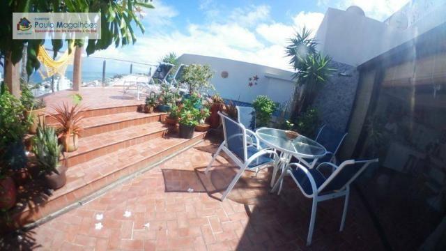 Cobertura com 4 dormitórios 3 suítes  vista a mar nascente à venda, 575m² total m² Rio Ver