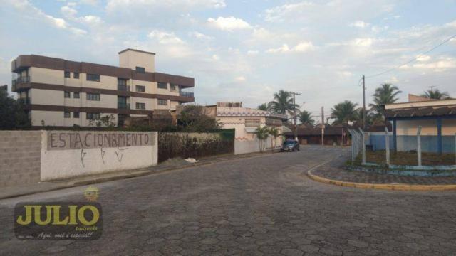 Terreno lado praia, 690 m² por R$ 360.000 - Balneário Itaguaí - Mongaguá/SP