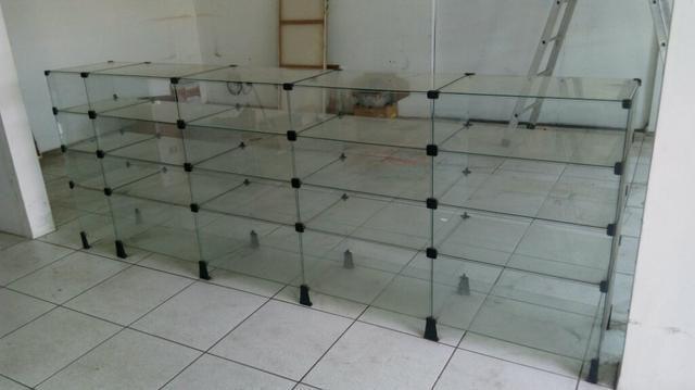 Balcão exposito de vidro