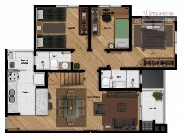 Cobertura à venda com 3 dormitórios em Tingui, Curitiba cod:CO0037 - Foto 16
