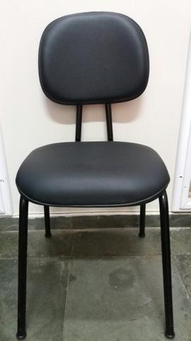 4 Cadeiras secretária fixa em corino. - Foto 2