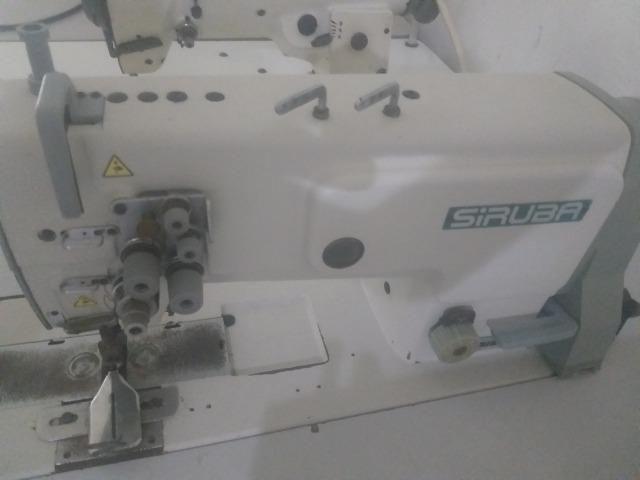 Máquina De Costura Pespontadeira 2 Agulhas Ponto Fixo