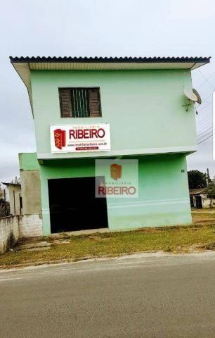 Sala Comercial com Apartamento!!! à venda, 160 m² por R$ 300.000 - Nova Divinéia - Ararang - Foto 3