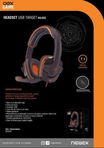 Headset Gamer Oex Target 7.1 pra PC em Fortaleza - Foto 4