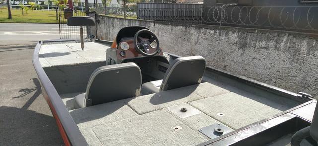 Barco BassBoat Alumínio completo - Foto 3