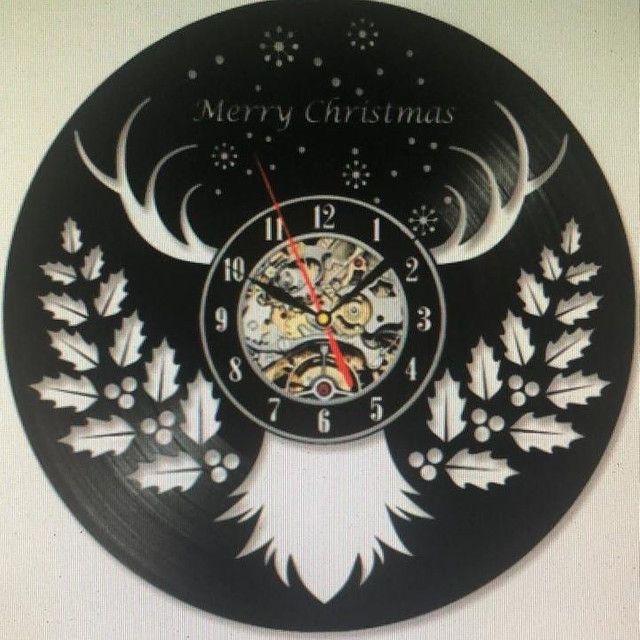 Presente maravilhoso de natal relógio vinil