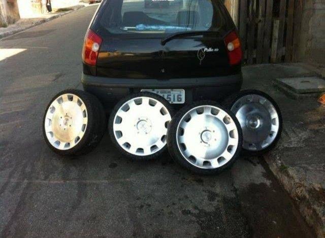 "Rodas 18"" pneus Pirelli 215 35 18 90% - Foto 2"