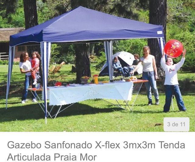 Tenda gazebo sanfonado x-flex 3mx3m - Foto 3