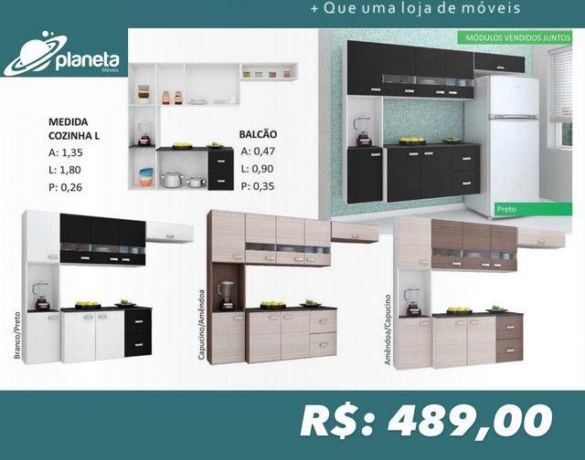 ARMÁRIO DE COZINHA COMPLETO VÁRIAS CORES 28690
