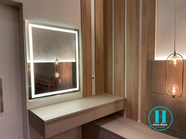 Espelho com led embutido alto padrão 0,70 x 1,00